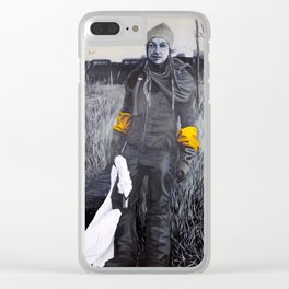 Nina and the swan Clear iPhone Case