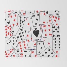 Random Playing Card Background Throw Blanket