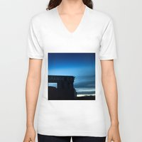 rio V-neck T-shirts featuring Rio Grande by Andrew C. Kurcan