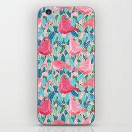 Tropical Flamingo watercolor iPhone Skin