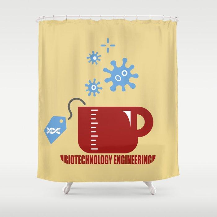 Biotechnology Engineering Shower Curtain