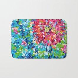 Color Burst Finger Painting Bath Mat