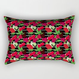 Juicy Fruit Stripe Rectangular Pillow