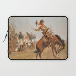 C.M. Russell Vintage Western Rider Of The Rough String Laptop Sleeve