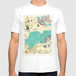 Princess Bride Discovery Map T-shirt
