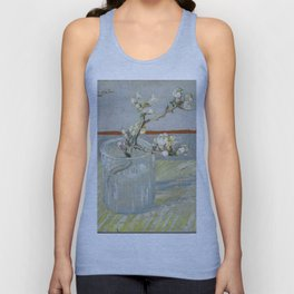 Vincent Van Gogh - Sprig of flowering almond in a glass Unisex Tank Top