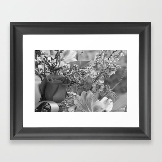 Bouquet B&W Framed Art Print