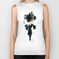 shopping Biker Tanks featuring shopping queen by Marie Elke Gebhardt
