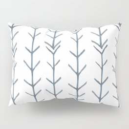 Twigs and branches freeform gray Pillow Sham