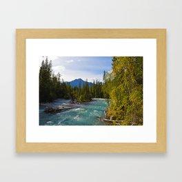 Maligne River & Pyramid Mountain in Jasper National Park, Canada Framed Art Print