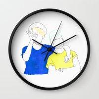 shinee Wall Clocks featuring SHINee I by Z. H.