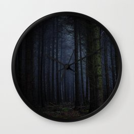 The Dark & Eerie Woods (Color) Wall Clock