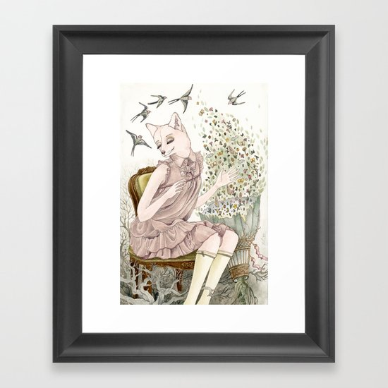 Enchanted Fox Framed Art Print