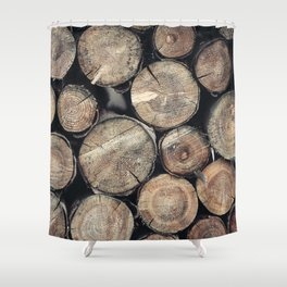 Wood Spirit Shower Curtain