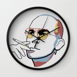 Hunter S. Thompson Wall Clock