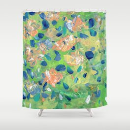 Just Because - Abstract floral Shower Curtain