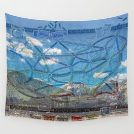 Ticket To Train Board Game Wall Tapestry