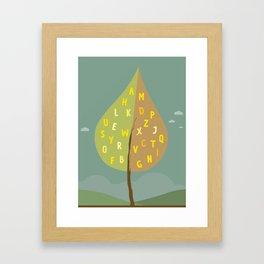 Alphapet Tree Framed Art Print