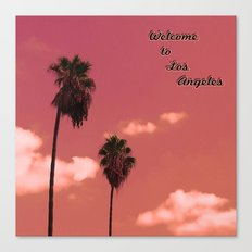 Welcome to Los Angeles Canvas Print