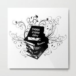 Mad About Books Metal Print