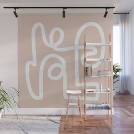 blush squiggle Wall Mural