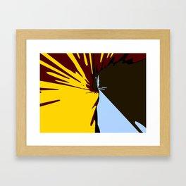 Waterfall Modern Art Colorful Scenery Framed Art Print