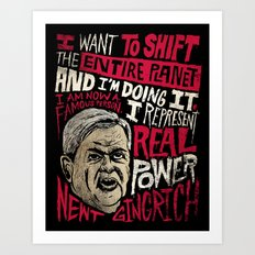 Newt Power Art Print