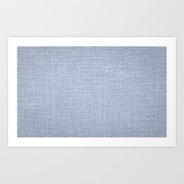 Denim canvas material Art Print