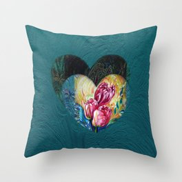 Tulips Fantasy Throw Pillow