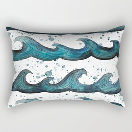 waves all day Rectangular Pillow