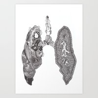 lungs Art Prints featuring Lungs by Alexander.Leake