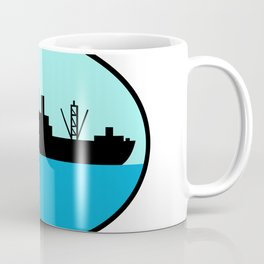 World War Two Attack Cargo Ship Retro Coffee Mug