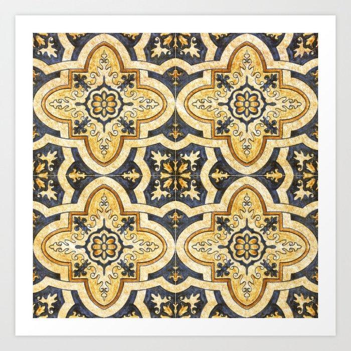 Ornamental pattern Kunstdrucke