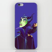 maleficent iPhone & iPod Skins featuring Maleficent by KanaHyde