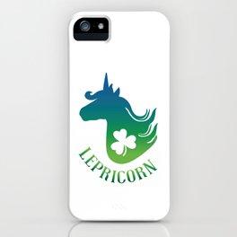 Unicorn Leprechaun St Patricks day  iPhone Case