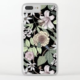 lush floral pattern with bee and beetles II Clear iPhone Case