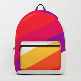 VHS Rainbow 80s Video Tape Backpack