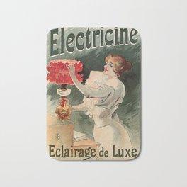 Electricine, French luxury lighting vintage ad Bath Mat