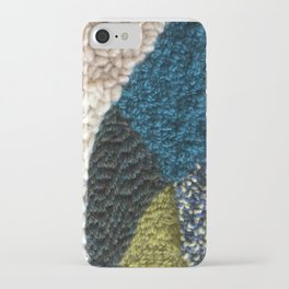 A Color Story Rug Hooked Art iPhone Case