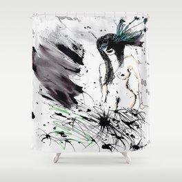 Naked Nanquim Shower Curtain