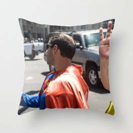 Super and spider Throw Pillow