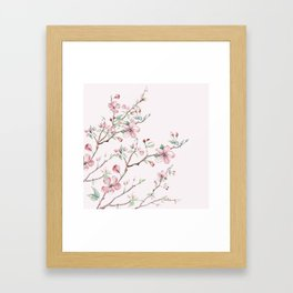Apple Blossom Pink #society6 #buyart Framed Art Print