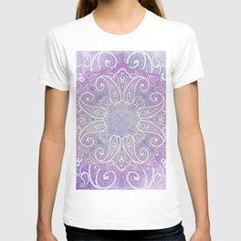 paisley wheel play in light purple T-shirt