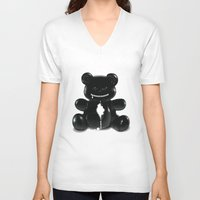 hug V-neck T-shirts featuring Hug by Bubblegun