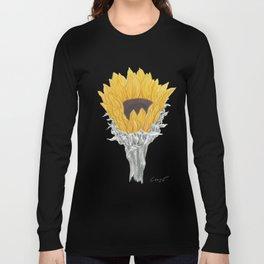 Sunflower 01 Botanical Flower Long Sleeve T-shirt