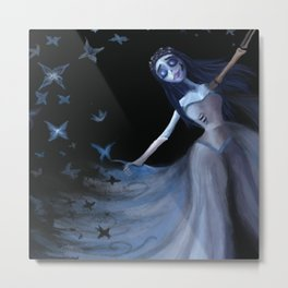 The Bride and Butterflies Metal Print