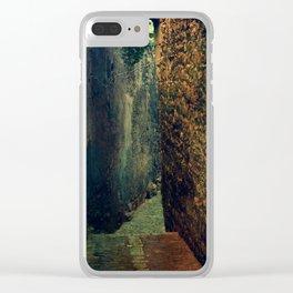 Dark alley Clear iPhone Case