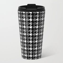 Houndstooth pattern with a shadow Travel Mug