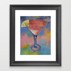 Marilyn Monroe Martini Framed Art Print