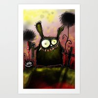 creepy Art Prints featuring creepy by Katja Main